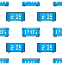 Electronic watch Flat color icon Seamless vector image vector image