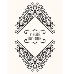 Floral vintage corner frame vector