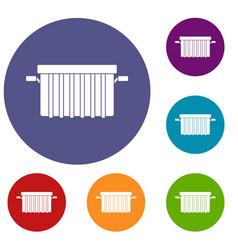 Garbage tank icons set vector