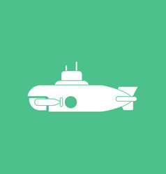 Icon military submarine silhouette vector