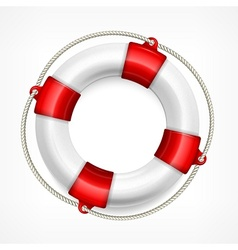 Life buoy on white vector image