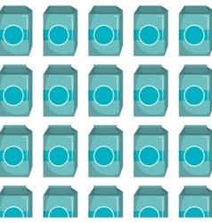 Milk box pattern background vector