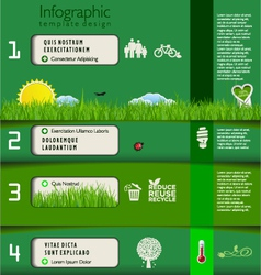 Modern green ecology template design vector