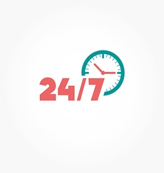 Open 24 hours day and 7 days week icon vector image vector image