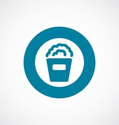 Popcorn icon bold blue circle border vector