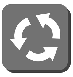 Recycle Rounded Square Icon vector image vector image