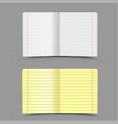 school notebook gray background vector image vector image