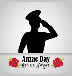 Soldier military to anzac holiday memory vector