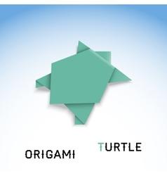 Turtle origami vector image vector image