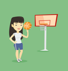 young basketball player spinning ball vector image