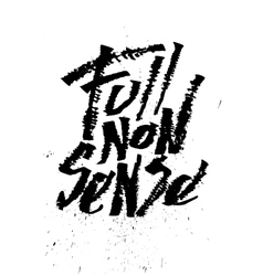 Full nonsense cola pen calligraphy font vector