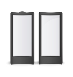 Black white stands pillars for outdoor advertising vector