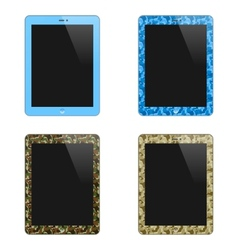 Realistic Concept Of Tablet PC With Blank Screen vector image