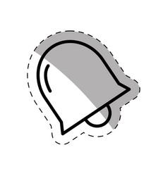 school bell thin line vector image
