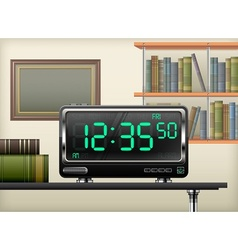 digital clock interior vector image