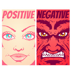 Good and evil vector