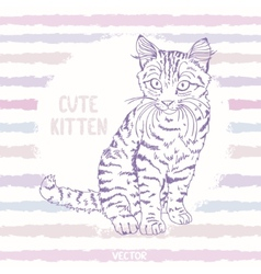 Kitten sketch vector