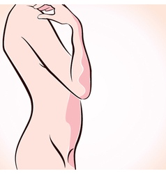 Abstract naked women stock vector