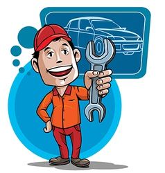 Auto mechanic vector