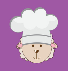Chef lamb vector