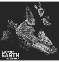 Abstract earth relief map vector