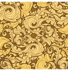 Golden Leaves Pattern vector image
