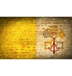 Flags vatican cityholy see with dirty paper vector