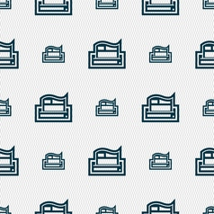 Newspaper icon sign seamless pattern with vector