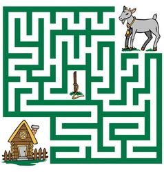 Maze of a lost goat vector