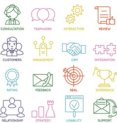 Customer relationship management icons - part 1 vector