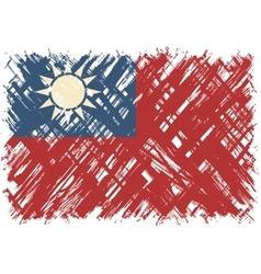 Taiwanese grunge flag vector image