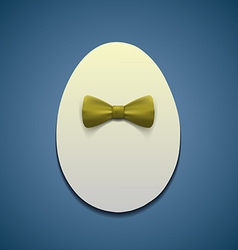 Easter egg with bow tie vector