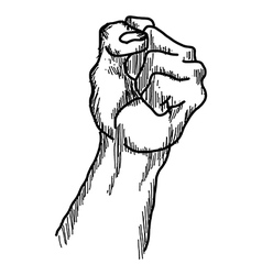 Doodles of raised protest fist vector