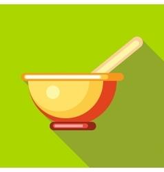 Tea mug icon flat style vector