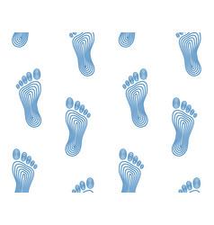 Abstract human footprints pattern vector