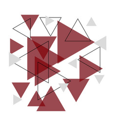 Abstract red triangle banner background vector