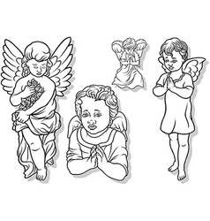 Angel set vector