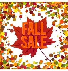 Autumn seasonal sale label vector