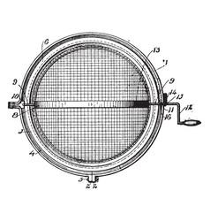Ball type strainer vintage vector