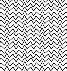 Black marker drawn simple uneven zigzag vector