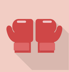 Boxing gloves in flat style vector