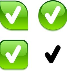 Check glossy button vector