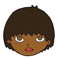 comic cartoon girl staring vector image
