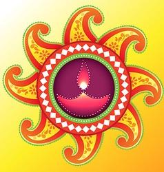 creative happy diwali design vector image