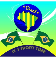 Digital brasil it is sport time vector