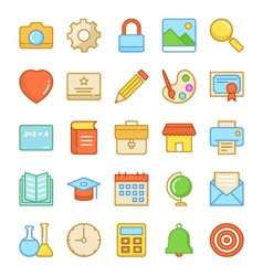 Education icons 1 vector
