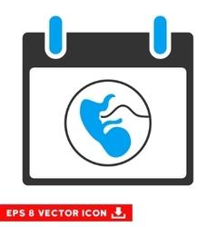Embryo calendar day eps icon vector