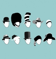 famous hats vector image vector image