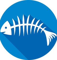 Fishbone icon vector