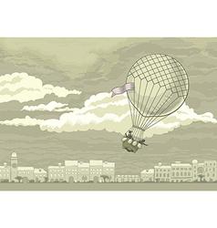 Flying Aerostat vector image
